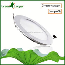 Renovation project big size low profile round led flat panel for soffit installation
