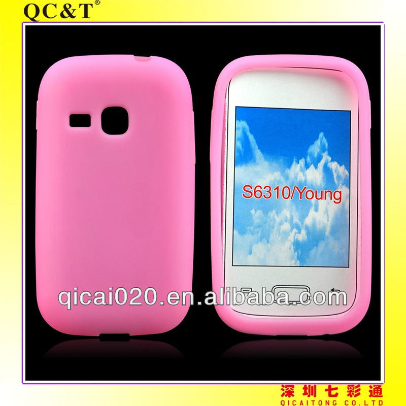 Silicon case for Samsung S6310/GALAXY Young