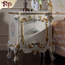 classical carved furniture antique reproduction french bedroom bedstand-Italian bedroom furniture