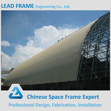 Lightweight steel space frame for power plant coal storage