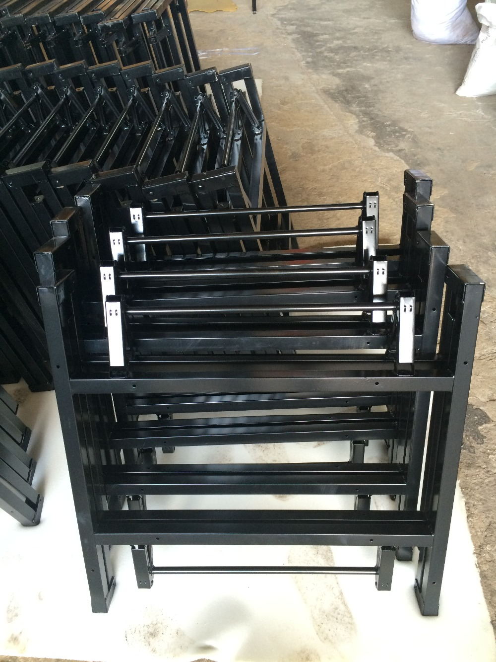 steel frame pvc folding hotel table ZT-1267T