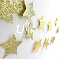 Glitter Gold Sparkle Twikle Star Paper