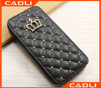 Wholesale Top quality PU leather PC hard Cell phone case For iPhone 5 5se 5C Cover Skin Flip Phone Bag