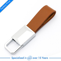 Factory price wholesales custom branded leather keychain for promotion