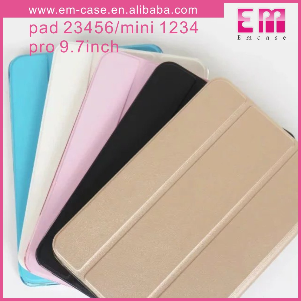 Flip Tablet Leather TPU Folder Case For iPad Mini1/2/3 For iPad 2/3/4/5/6 Leather Tab Case