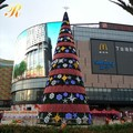 Holiday decorative artificial prelit Christmas trees