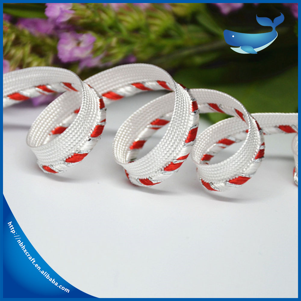 Wholesale lurex piping tape , piping cord for clothing