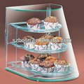 Green acrylic bakery display box;Bakey case;Bakery container;