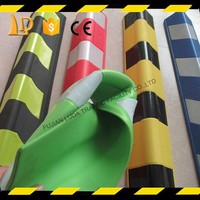 Colored right angle rubber wall protector for parking garage