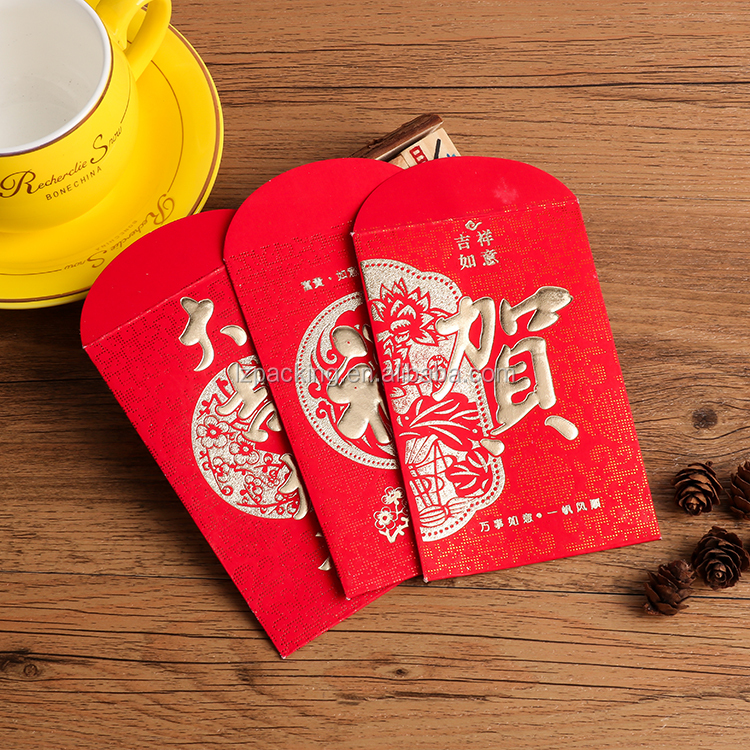 custom made Chinese new year luck money pocket red envelope