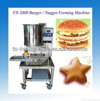 FX-2000 hamburger beef nugget forming shaping moulding making machine (skype: wulihuaflower)