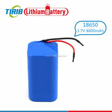High Drain Type 3.7v 8800mah 18650 Li-ion Battery With Wires