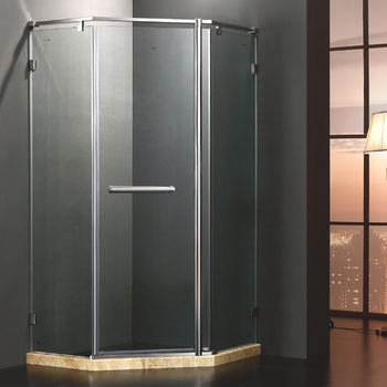 Foshan Stainless Steel Folding Bathroom Shower Cabin with diamond shape