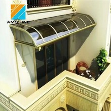 Polycarbonate plastic coveroutdoor canopy balcony awning design