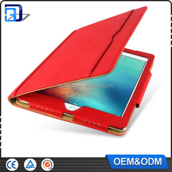 Made in china new product red color slot design 9.7 inch synthetic leather tablet case for ipad air