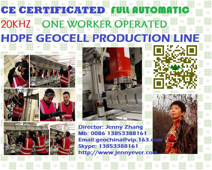 CE certificated Geocell Production Line 20khz 15khz Taiwan Generator Alluminum Welding moulds
