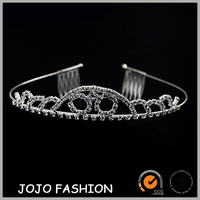 Fashion crystal hair accessories wedding princess tiara crown