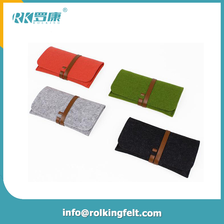 5.9*8.2*2.4 Inches Carrying Felt Sleeve Case Bag Travel Organizer for Computer Electronics Mp3 Mp4
