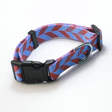 High quality durable sublimation printed fabric polyester dog cat collar
