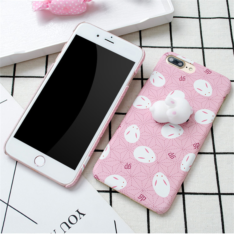 Lovely Squishy Cover Case 3D Squeeze Sleeping Cat Squishy Phone Case For iPhone 6 6s 7