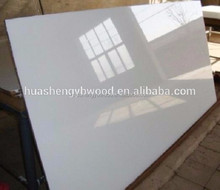 White color high gloss mdf uv board