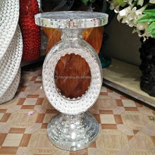 wedding centerpieces Sleek and Stylish Poly Stone Mirror Mosaic Table (big), contemporary Vase Stand