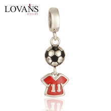 925 Sterling Silver Sports Football Charms For Jewelry S275