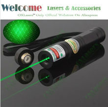 OXLasers OX-G1S MINI Fixed Focus 2 in 1 100mW Green Laser pointer pen with Star Cap