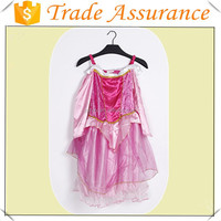 Factory sale Children's Pink Party Halloween Costumes,/princess costume/party dress /Pink Sleeping beauty dress for girls