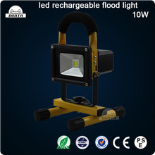 10W Portable LED Flood Light, Rechargeable, Li-ion Battery Powered
