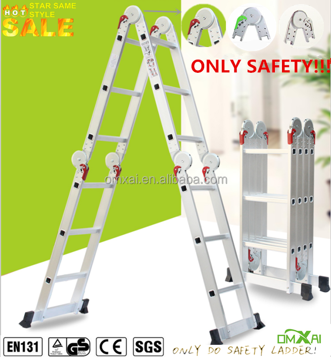 EN 131/GS multi-purpose foldable aluminium ladder