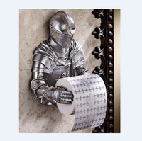Toilet Paper Holders Roll Custom Medieval statue Knight To Remember Gothic Bathroom Decor