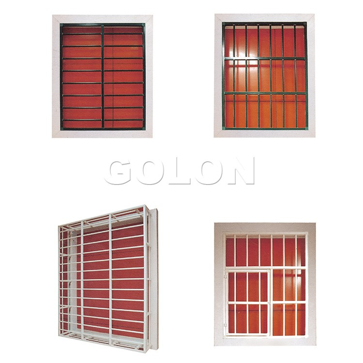 Latest modern simple steel aluminum iron window grill for Latest window designs