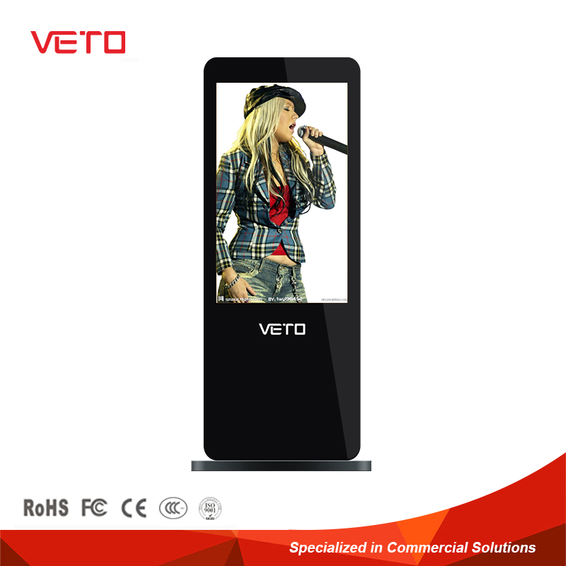 factory offer Indoor free standing lcd advertising display screen advertising board
