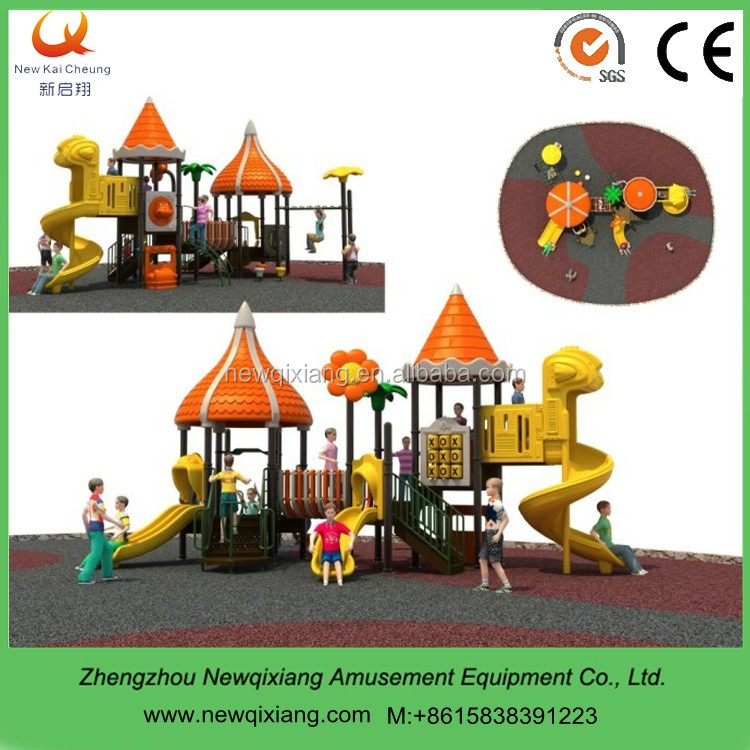 Imported LLDPE plastic swings and childrens slides for outdoor use