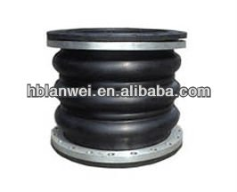 triple sphere expansion rubber bellow joint