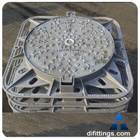 bituminous painted BS EN124 standard double seal manhole cover and frame
