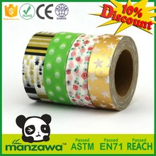 best price custom window glass decorative tapes foil washi tape