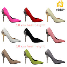 High quality Bigh Size 35-39 latest ladies pointy red weeding dress shoes sexy pencil heels for women