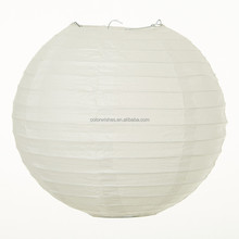 White Round Paper Lantern Lampion Wedding Decorations