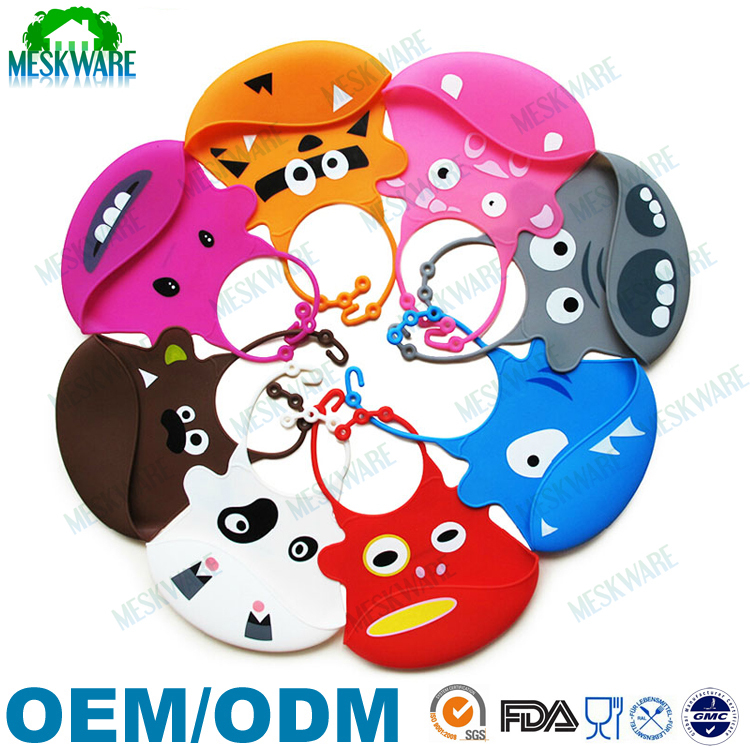 Professional factory plain silicone bibs with crumb catcher, waterproof baby bib