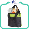 Green 70d polyester 6-pack cooler tote bag with aluminum fol lining