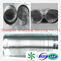 single wall flexible aluminum foil ducting for industrial HVAC systems plastic cable duct