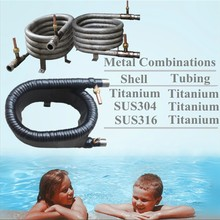 4HP Titanium Tube in Tube Co-Axial Condenser From Circulating Water Oil Cooler