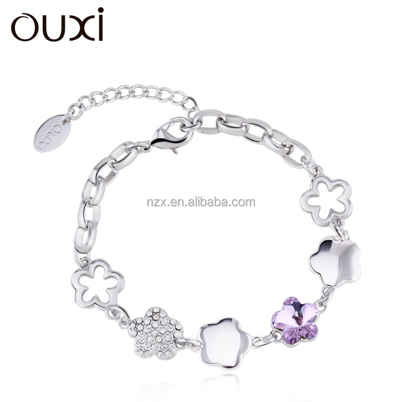 OUXI 2016 Fashionable pendant bracelet charm crystal bracelet for women 30209