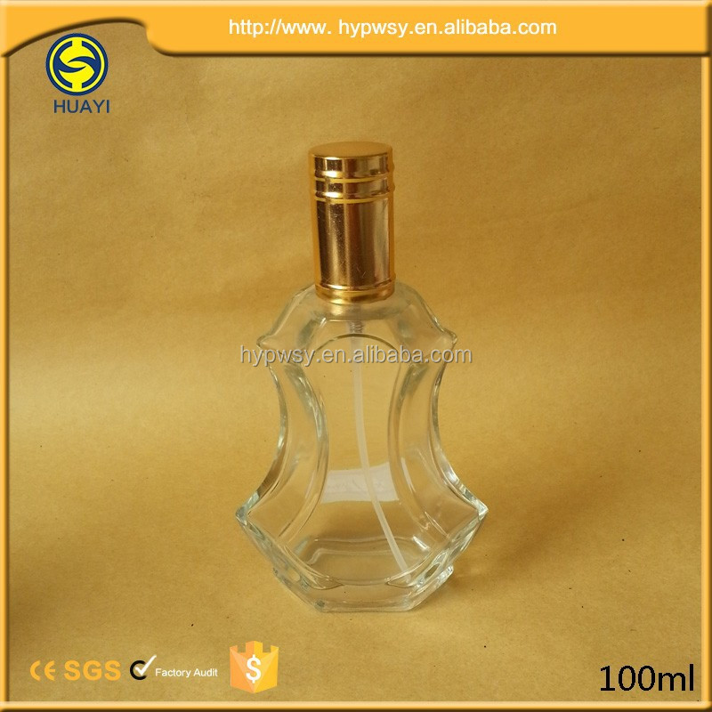 Hot design 100ml clear violin perfume bottle with sprayer