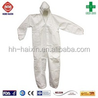 Disposable type5&6 flame retardant antistatic industiral medical SMS PP microporous coverall