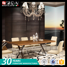 Hot selling elegant wooden mdf table dining room furniture sets