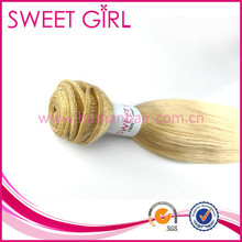 Wholesale 5a sew in indonesia human hair extensions blonde