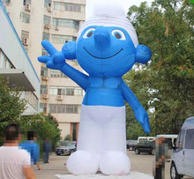 New design outdoor dispaly large inflatable smurfs